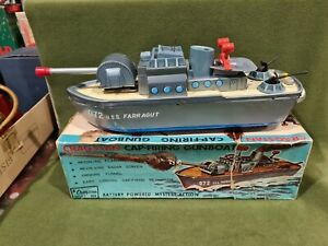 Gragstan Tin Toys Ship Uss Ferragut Made IN Japan