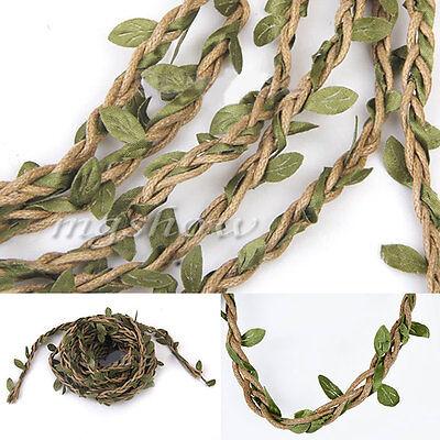 32ft Artificial Leaf Vine Garland Plant Fake Foliage Flower Home Wedding Decor