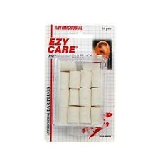 Ezy Care Antimicrobial Soft Foam Ear Plugs Nrr 29db 10 Pair Hearing Protection
