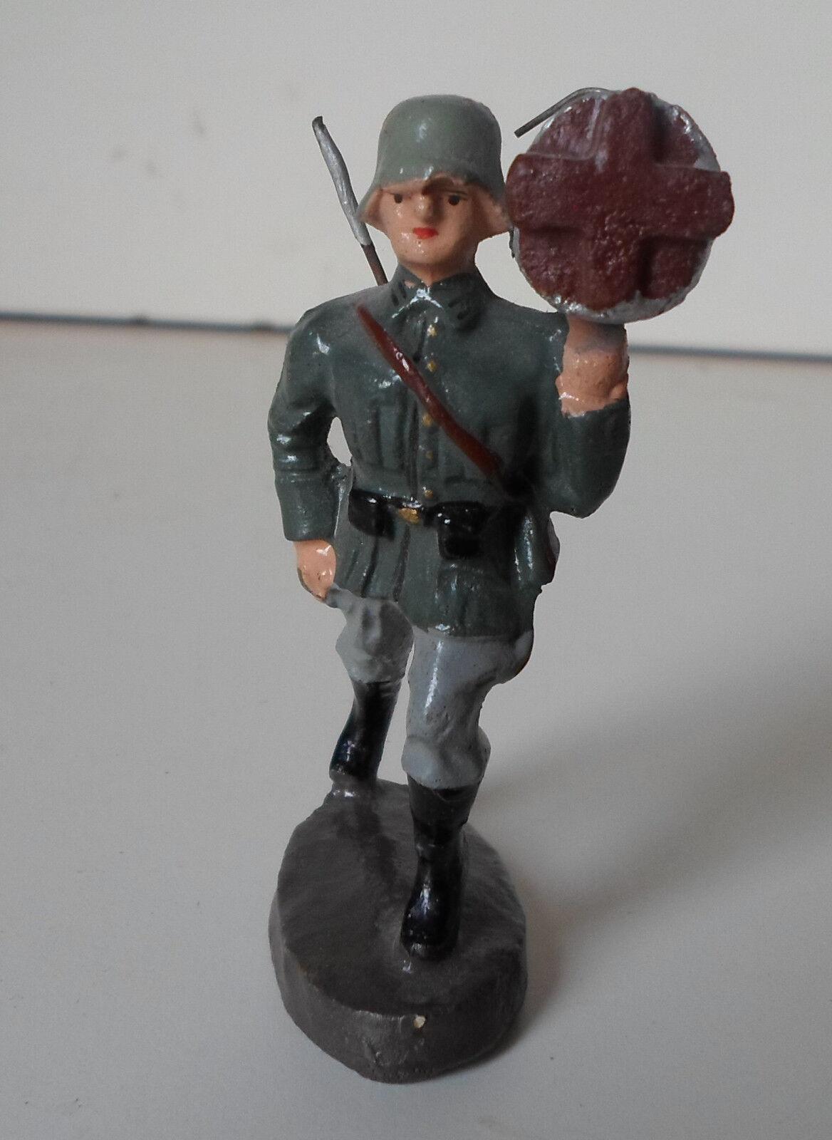 Seltenen alten elastolin lineol wehrmacht soldat mit kabelrollen   trommel