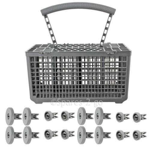 8 x inférieur 8 x haut roues et couverts panier pour lave-vaisselle AEG Roue de secours