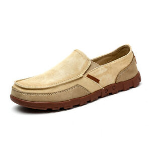 men's casual canvas slipon loafers boat shoes driving