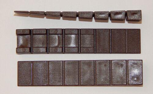 40 Möbelkeile Braun 100x20 mm Unterlegkeile Kunststoff mit 7 Soll-Bruchstellen