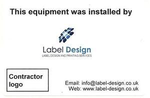 100 mini personalised business card size label company logo 76 x image is loading 100 mini personalised business card size label amp reheart Choice Image