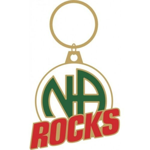 "Narcotics Anonymous key ring  NA Rocks Key Tag 1 1//4/"" X 1 1//4/"""