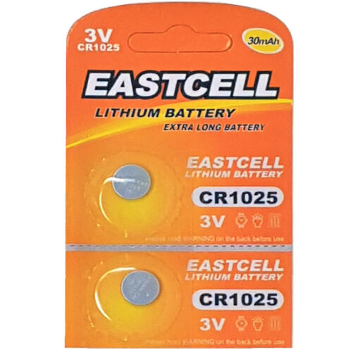 2 x CR1025  3V Lithium Knopfzelle 30 mAh 1 Blistercard a 2 Batterien EASTCELL