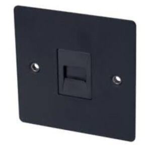 Cooker Switch 45A Satin Chrome Flat Plate Volex CKR SW 2G MPN:85579,