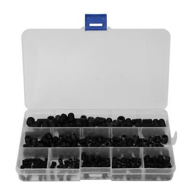 250x Box Black Carbon Steel Hex Socket Grub Screw Assortment Kit M4 M5 M6 M8 M10