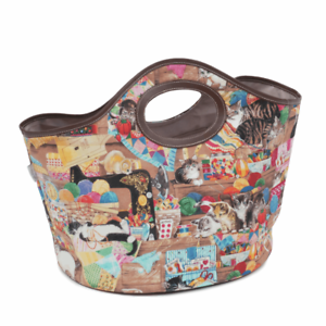 KNITTING BAG TOTE BAG /'Haby Cats/' Design LARGE STORAGE AREA Super quality