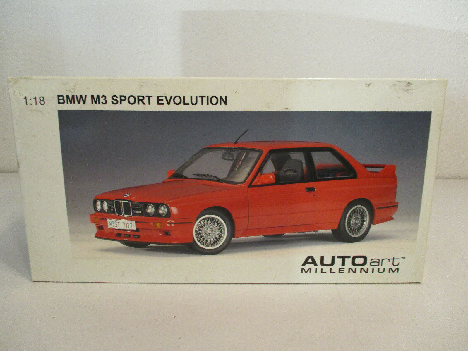 (Modelage) 1:18 Autoart BMW M 3 3 3 Sport Evolution Red Neuf neuf dans sa boîte   D'ornement  d422cf