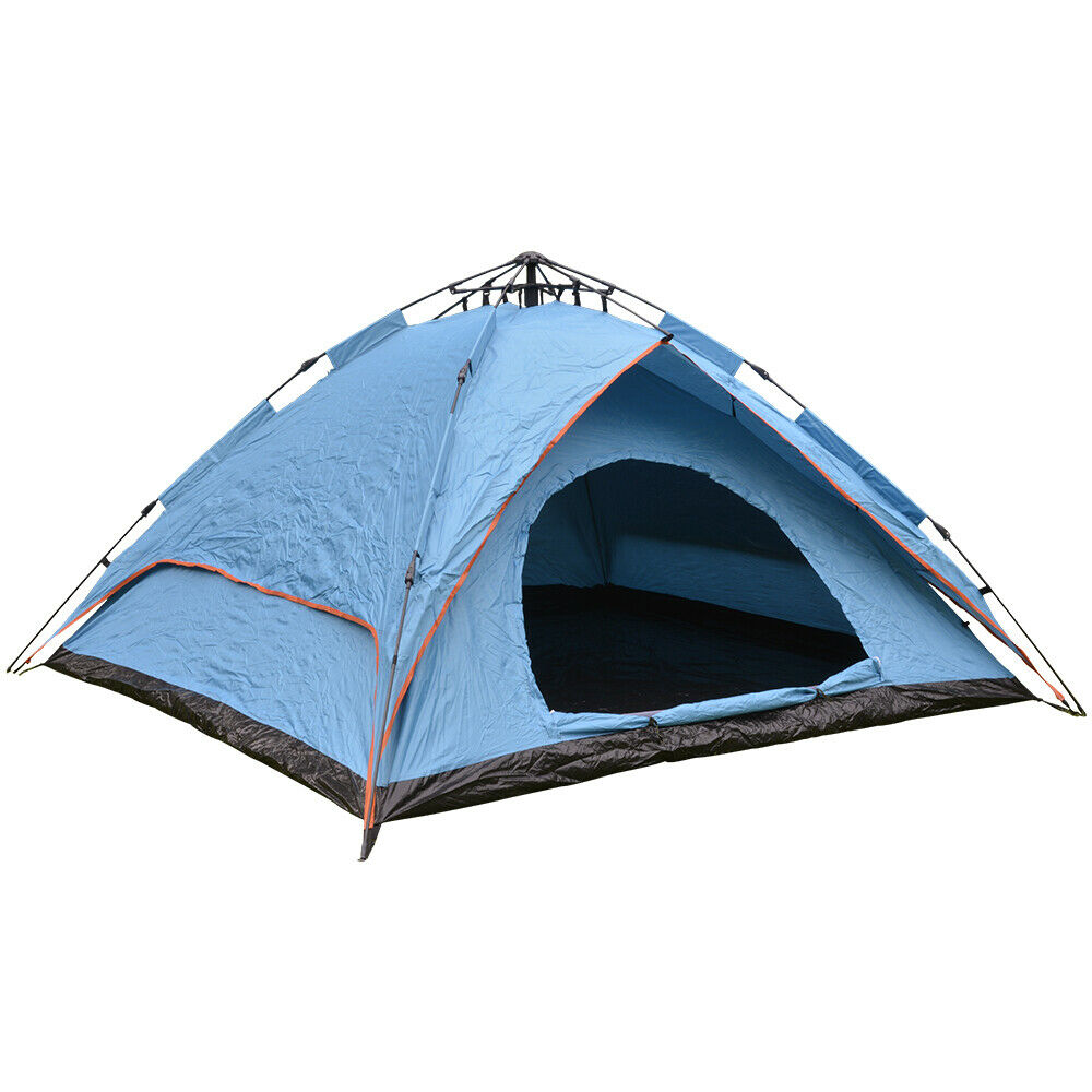 2-3 Man Person Double Layer Waterproof Fast Pop Up Tent Festival Camping Fishing