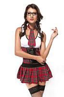 Ladies Sexy President School Girl Uniform Halloween Fancy Dress Costume