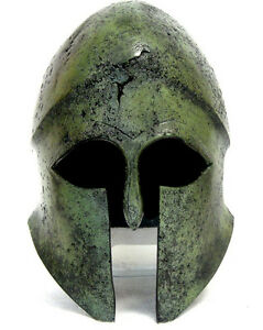 100% Bronze Ancient Greek Helmet from Thessaly Museum Replica Reproduction