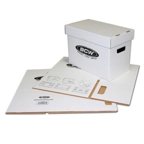 10 BCW Cardboard Magazine Storage Boxes mag box Time Sports Illustrated Bundle