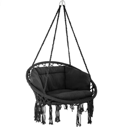 Hanging Hammock Chair Outdoor Indoor Garden Patio Durable Swing Rope Cushion new