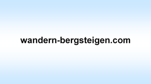 .com Domain Verkauf - www.wandern-bergsteigen.com - mit Rechnung