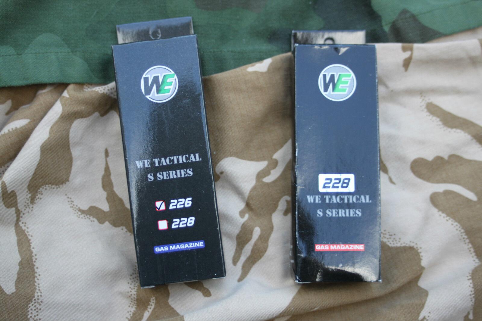 Airsoft, WE, WE GBB, WE 226 mag, WE 228 mag, WE 229 mag, WE Gas Mags