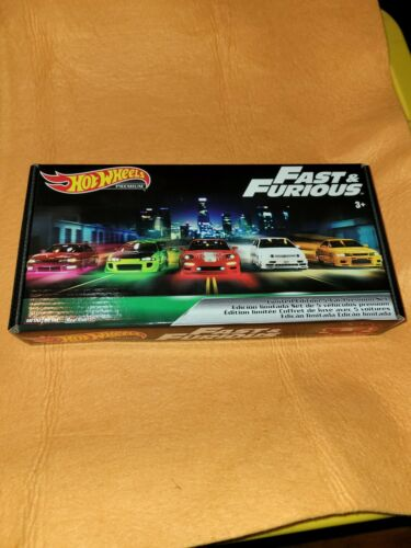 New. Hot Wheels Fast and Furious Original Cars Complete Box Set Of 5