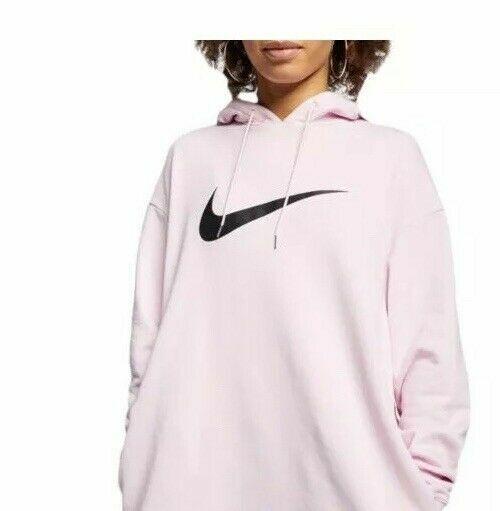 Miedo a morir verbo billetera  Nike Sportswear Women's Av8290 Fleece Dress Hoodie Pink Big Swoosh Large  for sale online | eBay