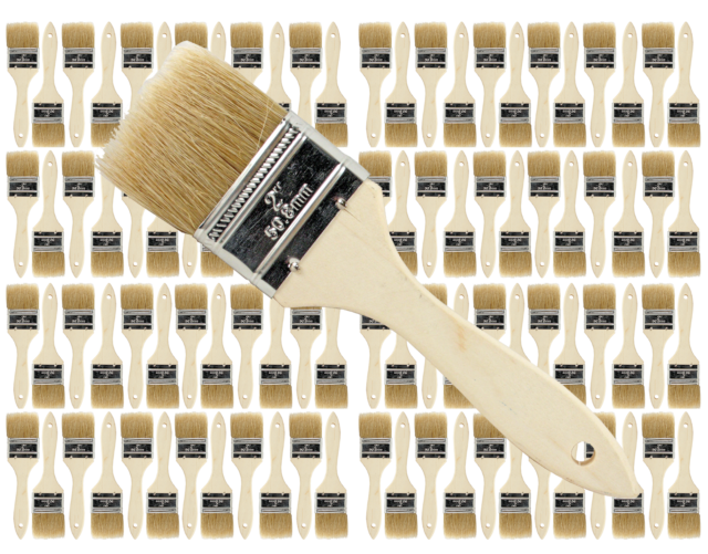 96 Pk Stains,Varnishes,Glues,Gesso 2 inch Chip Paint Brushes for Paint