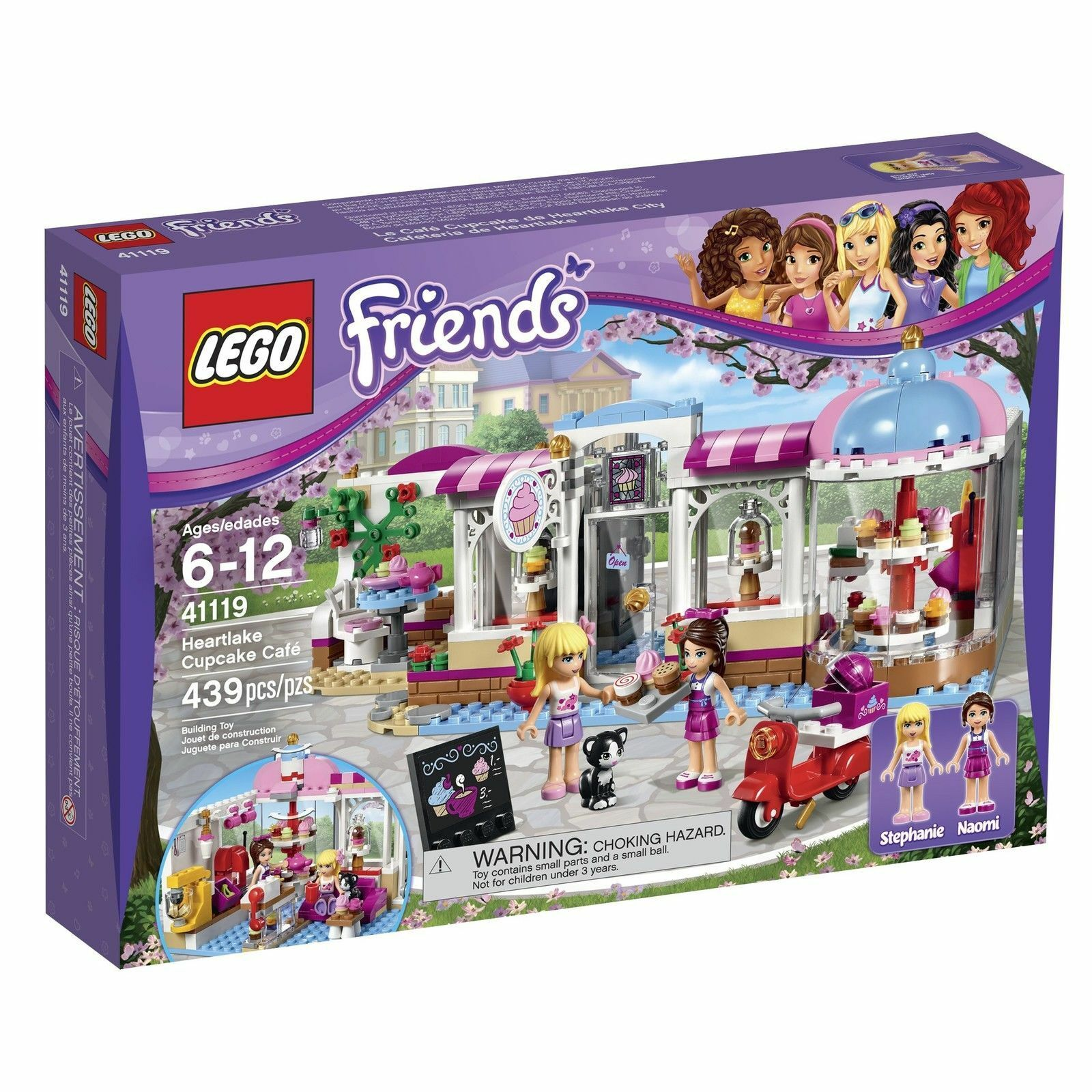 41119 HEARTLAKE CUPCAKE CAFE lego friends set NEW legos STEPHANIE NAOMI kitty