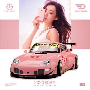 Modello-di-tempo-x-Ghost-Player-1-64-prosche-RWB-993-2020-Adriana-Rose-Gold