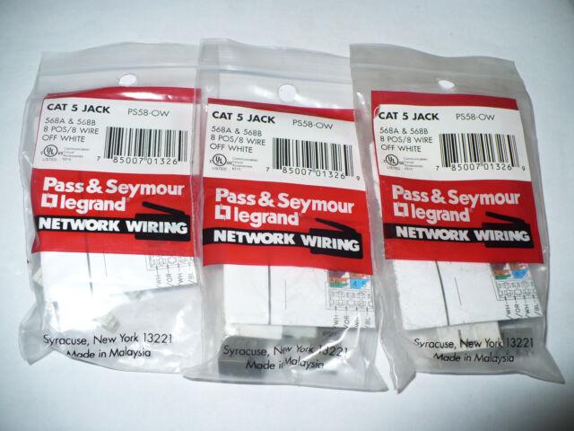 10 lot Pass Seymour Purple CAT 5E Smooth Jack S58-P 568A /& 568B 8 Pos Network