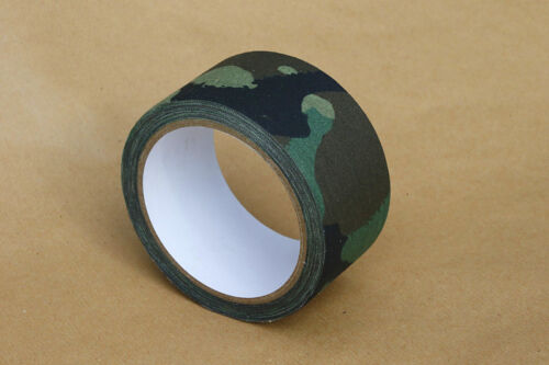 10 METRI x 5 cm NASTRO in Tessuto Camouflage Adesivo Esercito Camo Dpm panno.