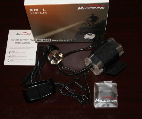 【Holiday Sale!】MagicShine MJ-808E Light/&828 Battery+free Helmet Mount+ext cable