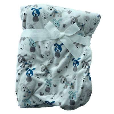 Blue triangles vison Sherpa Polaire Baby Crib Pram Moses Couverture 75 x 100 cm