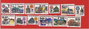 Czechoslovakia-1733-1741a-VF-Used-Buildings-Free-S-H