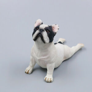 Resin-MINI-look-up-French-Bulldog-Hand-Painted-simulation-model-statue-WHITE