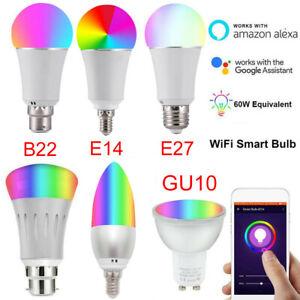 B22-GU10-E27-E14-LED-Smart-Dimmable-Light-Bulb-WiFi-Remote-For-Google-Home-Echo
