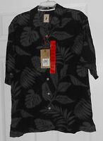 Jamaica Jaxx Obbsidian (black) Island Print Silk Shirt Size Xl