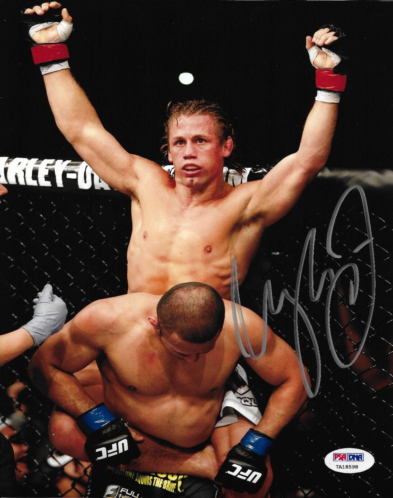 Urijah Faber Signé UFC 157 8x10 Photo PSA   DNA COA Wec Image Autographe 128 194