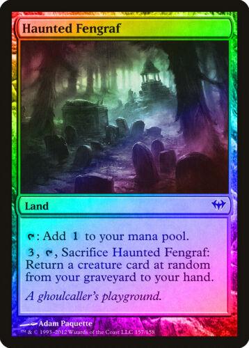 Haunted Fengraf FOIL Dark Ascension NM-M Land Common MAGIC MTG CARD ABUGames