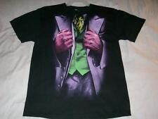 The Joker Outfit Batman The Dark Knight Movie DC Comics Black Tshirt Mens Medium