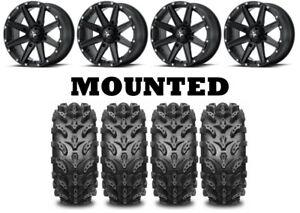 Kit-4-Interco-Swamp-Lite-Tires-28x10-12-on-MSA-M33-Clutch-Matte-Black-Wheels-VIK