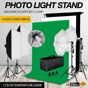 Studio-Lighting-Light-Video-Photo-Softbox-Photography-Backdrops-Stand-Kit