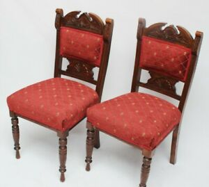 Pair-of-Vintage-Carved-Beech-Dining-Chairs-FREE-Shipping-5339-B