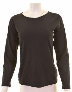 TRUSSARDI-Womens-Top-Long-Sleeve-Size-14-Large-Black-Polyamide-DM13
