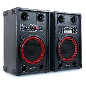 OCCASION-DJ-PA-PACK-AMPLIFIE-ENCEINTES-SONO-2X-HAUT-PARLEUR-10-034-HIFI-KARAOKE-U