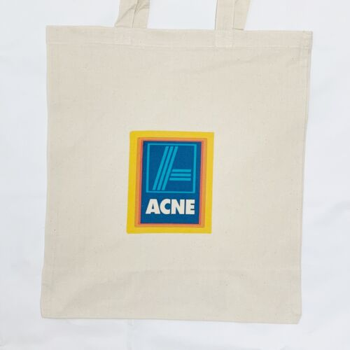 Aldi Acne Studios Tote Canvas Bag Joke Parody Designer Tote Bag Black or White