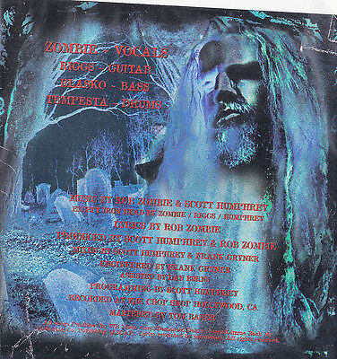 Rob Zombie Band DECAL STICKER Music Album Art Sinister Urge Blue Red Creepy New