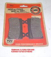 Yamaha Fj1200 Fzr1000 Fzr400 Fz750 Front Disc Brake Pads Sbs 613
