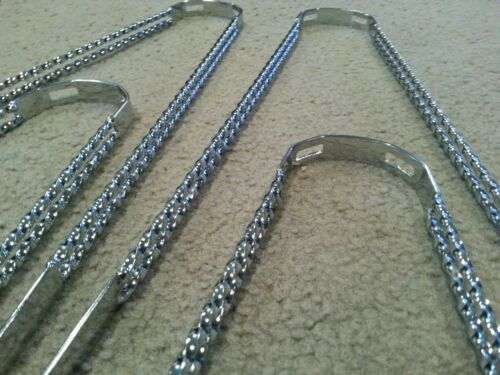 """4 NEW CHROME DOUBLE TWIST FENDER BRACES FOR 26/"""" BEACH CRUISER BICYCLES LOWRIDER"""