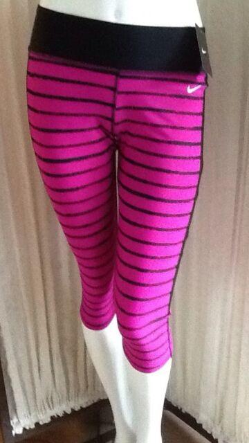 Nike Womens Tights MED Nwt Ness5283 Su19360 Clr 575 Blk/Pk $58.00