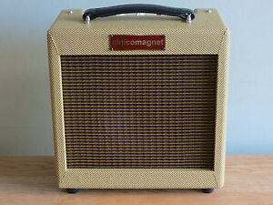 Alnicomagnet-034-Mighty-Mo-034-Blues-Harp-Amplifier-New-All-Valve-Tube-Tweed-Combo