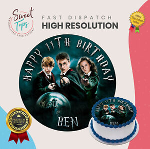 Personalised Harry Potter Cake Topper Add Any Name And Age Birthday Party 9 7 10
