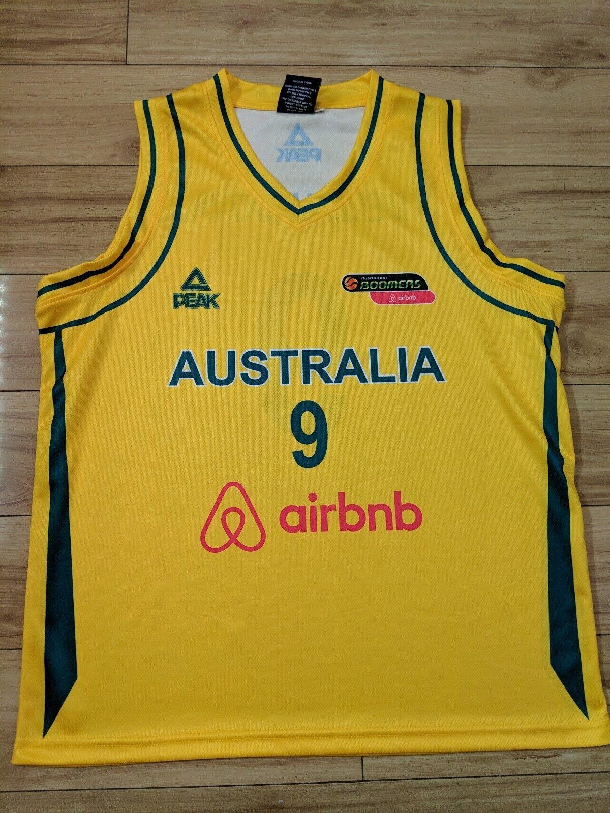 Matthew Dellavedova NBL Australian Boomers Official PEAK Jersey - small